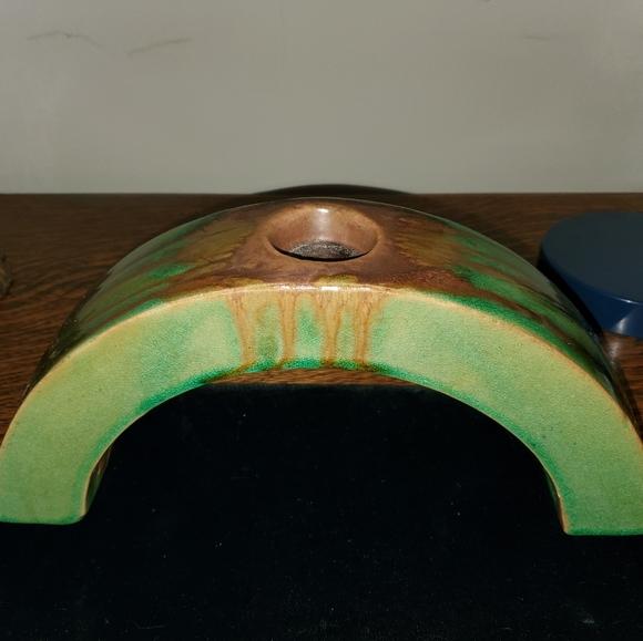 Vintage Other - Vintage Arts & Crafts Drip Glaze Candle Arch